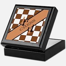 Chess Pennant Keepsake Box