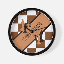 Chess Pennant Wall Clock