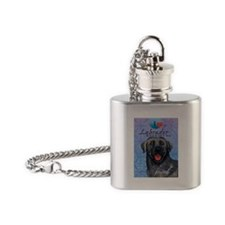 Black Lab Flask Necklace