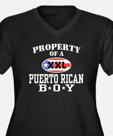 Property of a Puerto Rican Bo Women's Plus Size V-