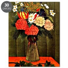 Henri Rousseau - Bouquet of Flowers with an Puzzle