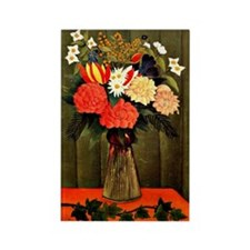 Henri Rousseau - Bouquet of Flowe Rectangle Magnet