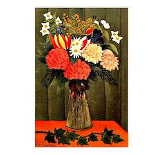 Henri Rousseau - Bouquet  Postcards (Package of 8)