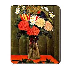 Henri Rousseau - Bouquet of Flowers with Mousepad