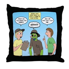 Zombie Scout Menu Planning Throw Pillow