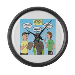 Zombie Scout Menu Planning Large Wall Clock