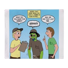 Zombie Scout Menu Planning Throw Blanket