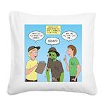 Zombie Scout Menu Planning Square Canvas Pillow
