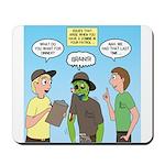 Zombie Scout Menu Planning Mousepad