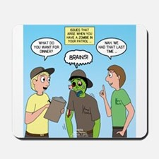 Zombie Scout Menu Planning Mousepad