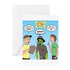 Zombie Scout Menu Planni Greeting Cards (Pk of 20)