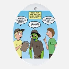 Zombie Scout Menu Planning Ornament (Oval)