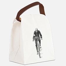 Vintage Cyclist Canvas Lunch Bag