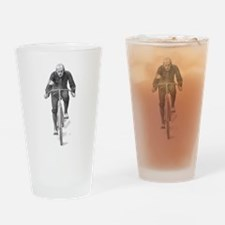 Vintage Cyclist Drinking Glass