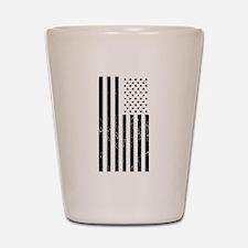 Distressed American Flag Shot Glass