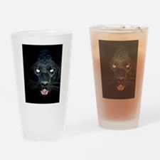 a  black panther Drinking Glass