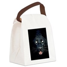 a  black panther Canvas Lunch Bag