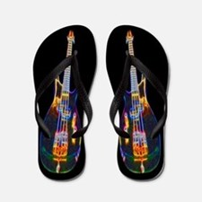 Stylized Electric Bass Guitar Flip Flops