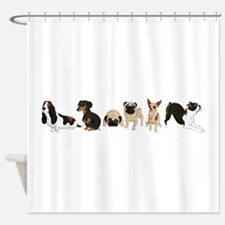 Dogs Line-Up Shower Curtain