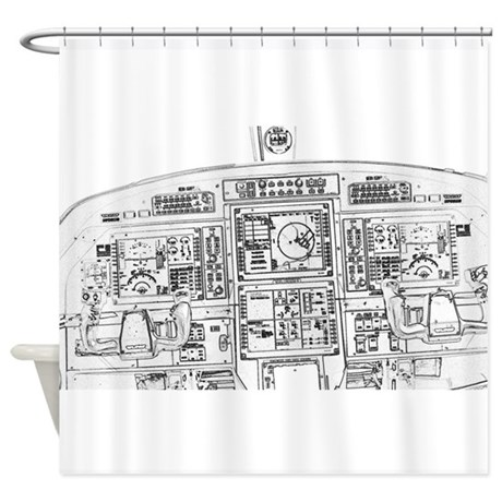Aircraft Shower Curtains Fabric Curtain Liner