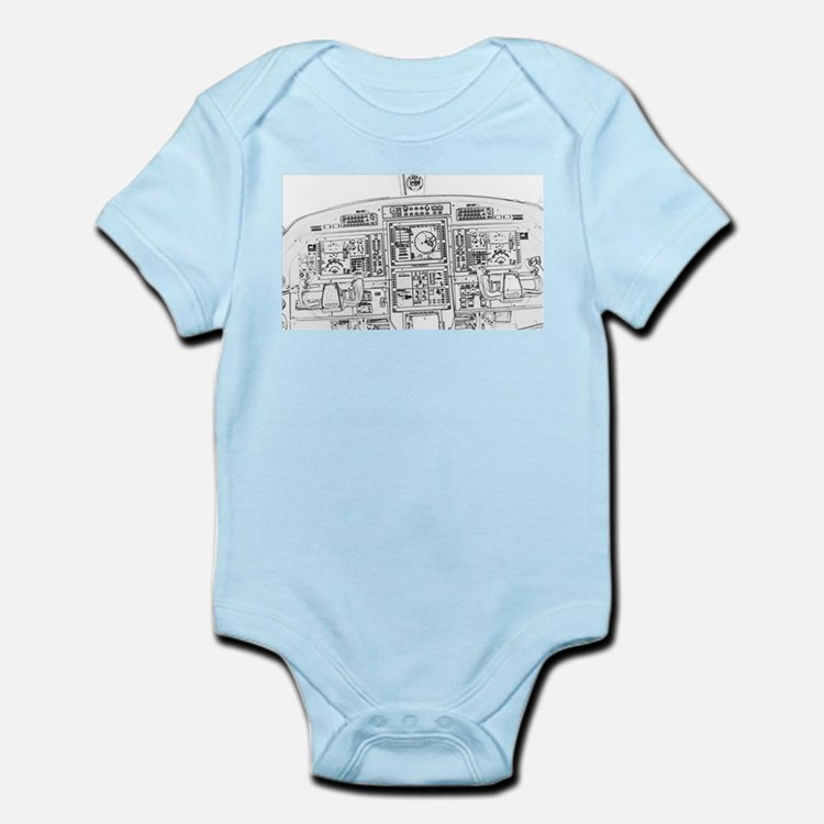 Airplane Instrument Panel Sketch Body Suit