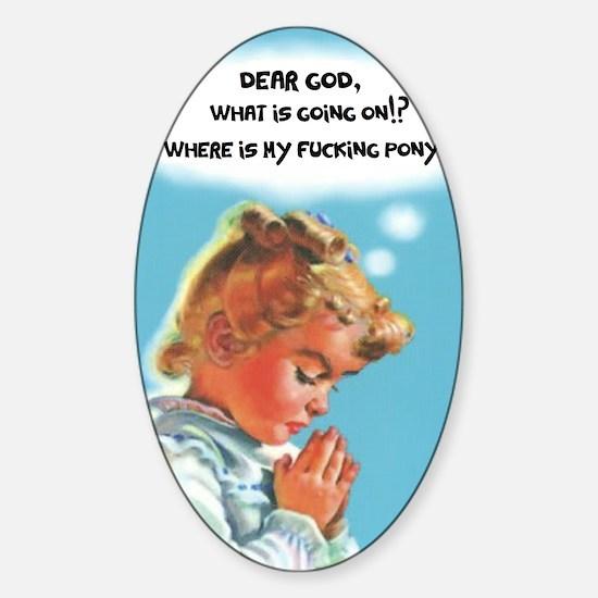 Dear God Decal