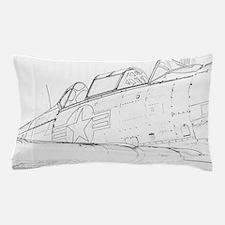 Aviation Sketch Pillow Case