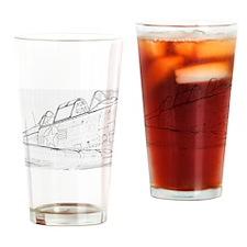 Aviation Sketch Drinking Glass