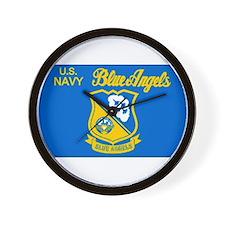 The Navy Blue Angeles Wall Clock