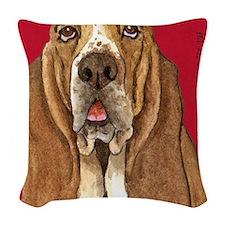 Basset Hound Woven Throw Pillow