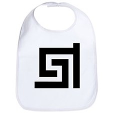 Greek Key Pattern Trendy Traditional Design Bib