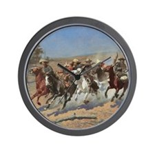 Vintage Cowboys by Remington Wall Clock