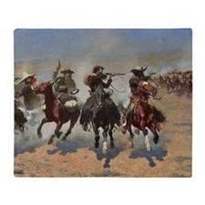 Vintage Cowboys by Remington Throw Blanket