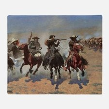 Vintage Cowboys by Remington Throw Blanket
