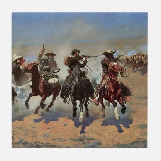 Vintage Cowboys by Remington Tile Coaster