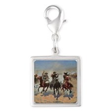 Vintage Cowboys by Remington Silver Square Charm