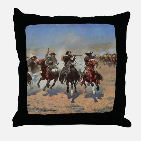 Vintage Cowboys by Remington Throw Pillow