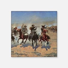 "Vintage Cowboys by Remingto Square Sticker 3"" x 3"""