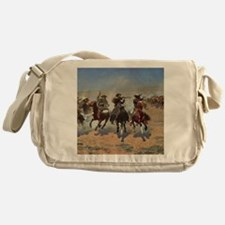 Vintage Cowboys by Remington Messenger Bag