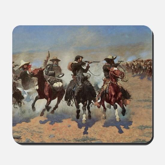 Vintage Cowboys by Remington Mousepad