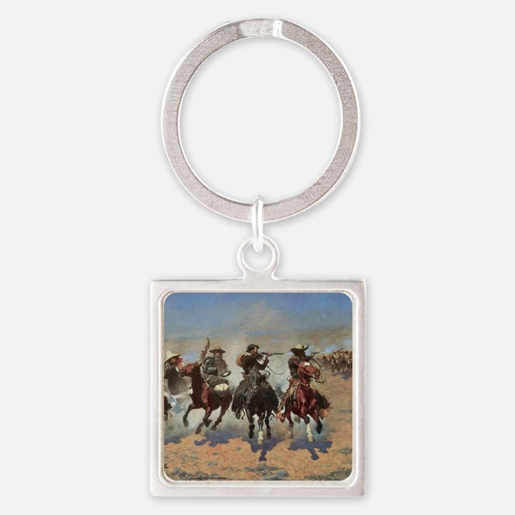 Vintage Cowboys by Remington Square Keychain