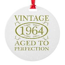 Vintage 1964 Birth Year Ornament