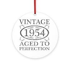 Vintage 1954 Birth Year Round Ornament