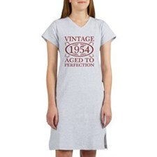 Vintage 1954 Birth Year Women's Nightshirt