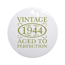 Vintage 1944 Birth Year Round Ornament