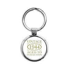 Vintage 1944 Birth Year Round Keychain