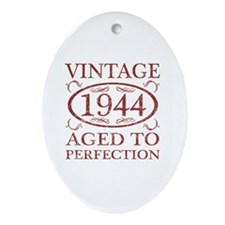 Vintage 1944 Birth Year Oval Ornament