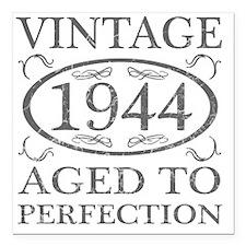 "Vintage 1944 Birth Year Square Car Magnet 3"" x 3"""