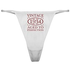 Vintage 1934 Birth Year Classic Thong