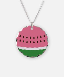 Abstract Watermelon Necklace